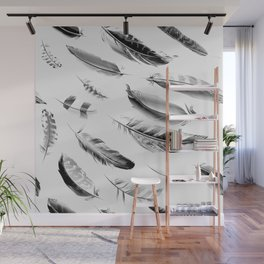 Cosmic Feathers Carbon Dust Wall Mural