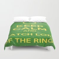 the lord of the rings Duvet Covers featuring Lord of the Rings by MeMRB
