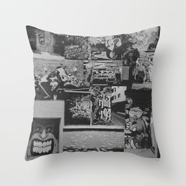 The Street Art Collection Throw Pillow