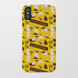 Chocolate Wasted (yellow) iPhone Case