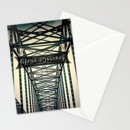 life is a journey . Stationery Cards