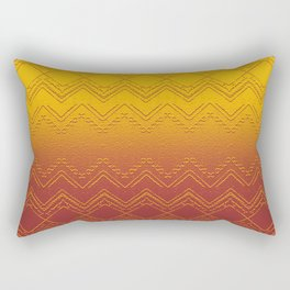 Deep Golden Sunset Ombre Geometric Rectangular Pillow