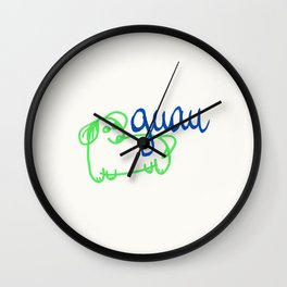 Guau - a dog Wall Clock