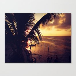 Sunset Dip Canvas Print