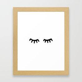 Tired Eyes Framed Art Print