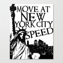 New York City Speed Canvas Print