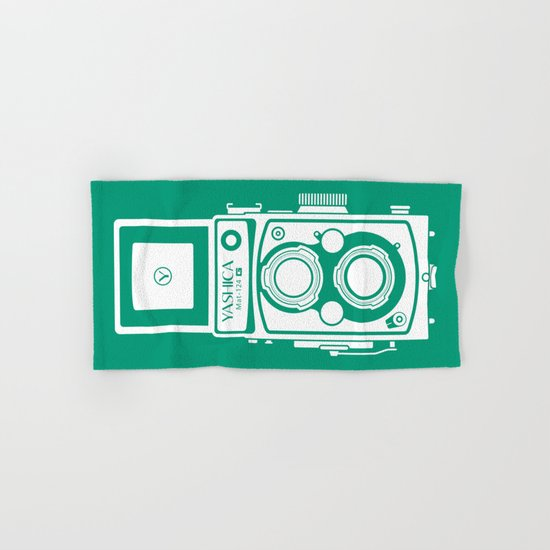 Yashica Mat 124G Camera Emerald Hand & Bath Towel