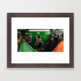 The Barbers Framed Art Print