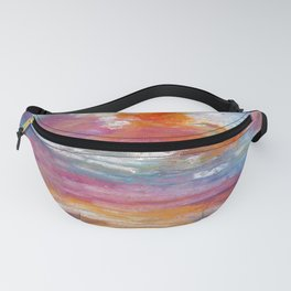 Abstract colorful texture background with paint strokes Fanny Pack