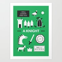 ouat Art Prints featuring OUAT - A Knight by Redel Bautista