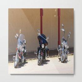 Motorcycle Parade Metal Print
