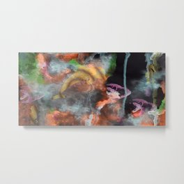 Abstract Art Under the Sea Metal Print
