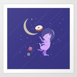 Space Donut Art Print