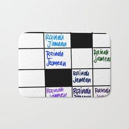 Rainah Jamean Crossword Puzzle Bath Mat