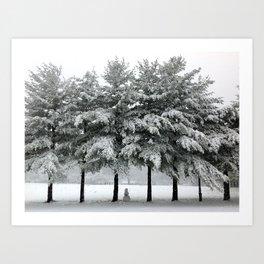 its snowing Art Print