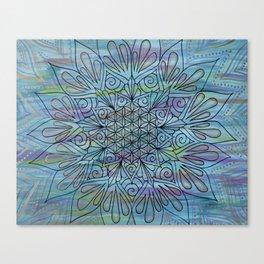 Jade River Mandala Canvas Print
