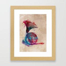 French horn #frenchhorn #music #art Framed Art Print