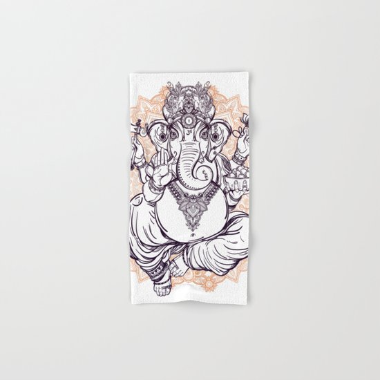 Lord Ganesha on Mandala Hand & Bath Towel