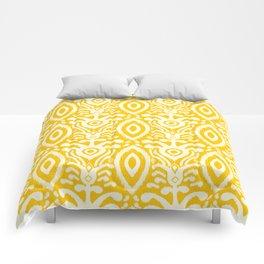 Yellow Ikat Pattern Comforters