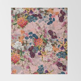 Summer Botanical Garden VIII - II Throw Blanket