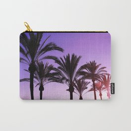 Purple Californian Vibes Palm tree beach photography Carry-All Pouch