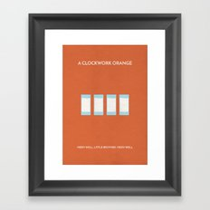 AClockworkOrange Minimalist Poster - Moloko Plus Framed Art Print