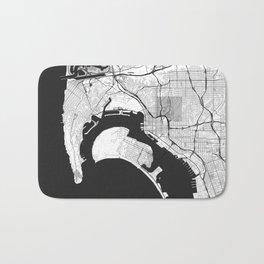San Diego Map Gray Bath Mat