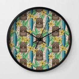Tiki Garden Wall Clock