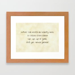 Riddles #1 Framed Art Print