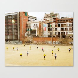 Barcelona Football Canvas Print