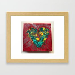 Heart Burst Framed Art Print