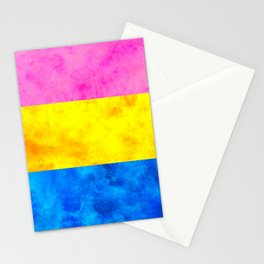 Pansexual Pride Flag Stationery Cards