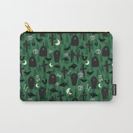 Scary Green Graveyard Carry-All Pouch