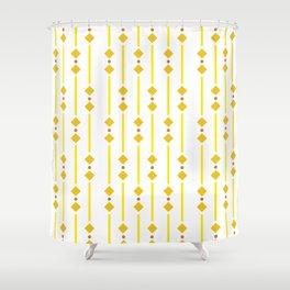 geometric design yellow rhombuses Shower Curtain