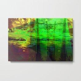 Sunset Transformer II- Toxic Green Metal Print