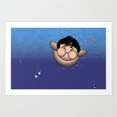 Take it all off and have a swim!!!! Art Print