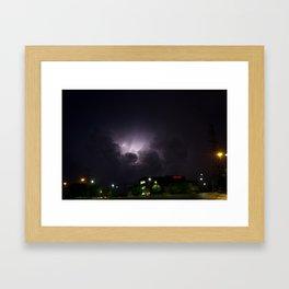 Heavenly Storm Framed Art Print