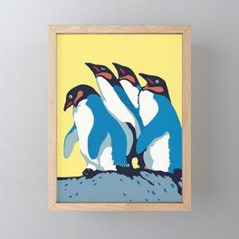 Four Penguins Framed Mini Art Print