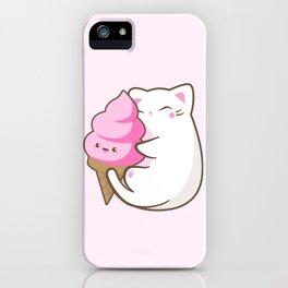 Ice cream lover chubby cat iPhone Case