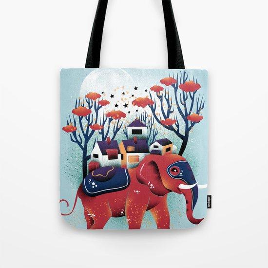 A Colorful Ride Tote Bag