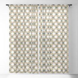 Dots Pattern 15 Sheer Curtain