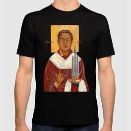 Holy Prophet Elon Musk isolated T-shirt