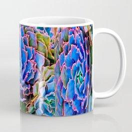 ORNATE BLUE-PINK SUCCULENT ART Coffee Mug