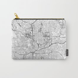 Atlanta White Map Carry-All Pouch