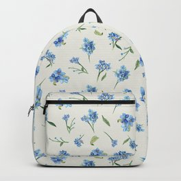 Forget Me Not Pattern Backpack