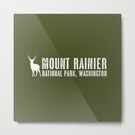Deer: Mount Rainier, Washington Metal Print