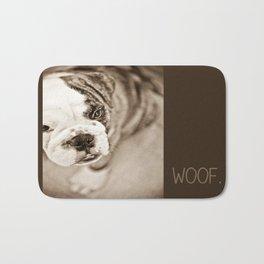 American Bulldog - Sepia Bath Mat