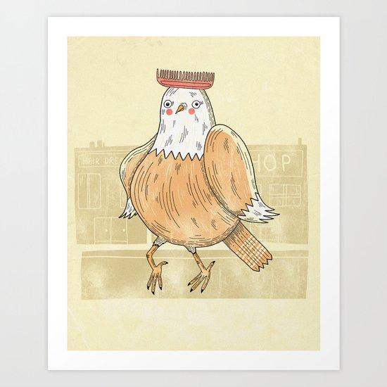 Chicken comb Art Print