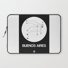 Buenos Aires White Subway Map Laptop Sleeve