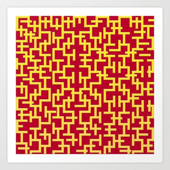 Colorful Maze II Art Print